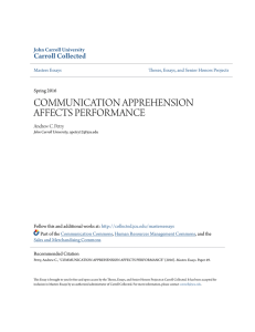 communication apprehension affects performance