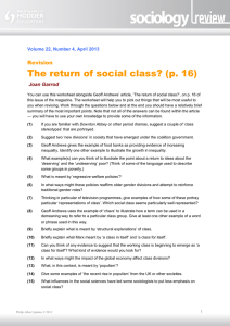The return of social class?