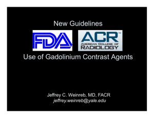 New Guidelines Use of Gadolinium Contrast Agents - SCBT-MR