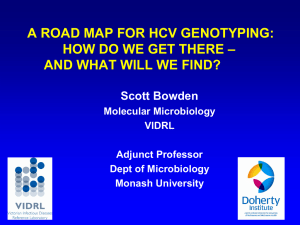 A Road Map for HCV Genotyping