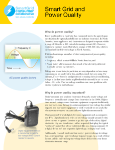 Smart Grid and Power Quality