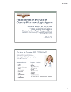 Practicalities in the Use of Obesity Pharmacologic Agents