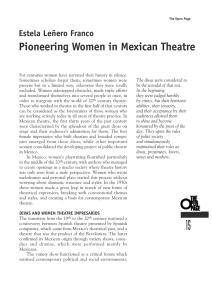 Pioneering Women in Mexican Theatre