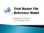 Zone Lead Role - Trial Master File Reference Model