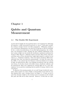 Qubits and Quantum Measurement