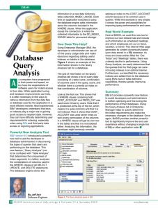 Database Query Analysis - BASIS International Ltd.