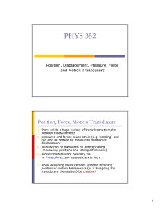 Position, Force, Motion Transducers