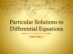Particular Solutions to Differential Equations