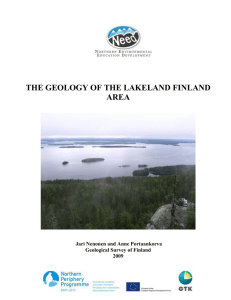 the geology of the lakeland finland area