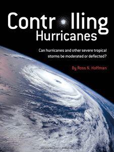 Controlling Hurricanes