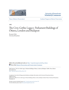 The Civic Gothic Legacy: Parliament Buildings of Ottawa, London