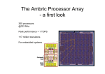 The Ambric Processor Array