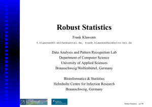 Robust Statistics - COST Action IC0702