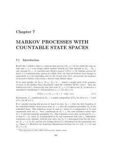 MARKOV PROCESSES WITH COUNTABLE STATE SPACES