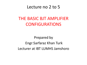 Basic BJT Amplifiers Circuits