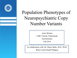 Population Phenotypes of Neuropsychiatric Copy Number Variants