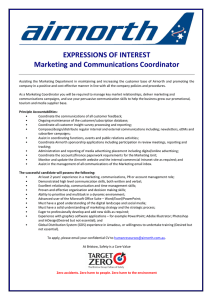 EXPRESSIONS OF INTEREST Marketing and