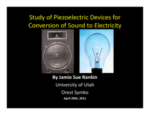 Study of Piezoelectric Devices for Conversion of Sound to Electricity