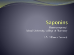 Saponins - WordPress.com