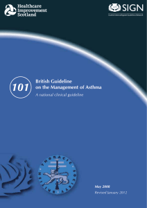 BTS/SIGN Asthma Guideline 2012