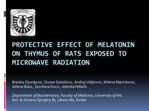 Protective effect of melatonin on thymus of rats exposed to