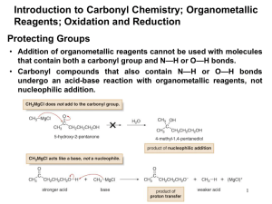 Protecting Groups Introduction to Carbonyl
