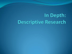 In Depth: Descriptive Research