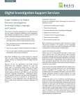 Digital Investigation Support Services