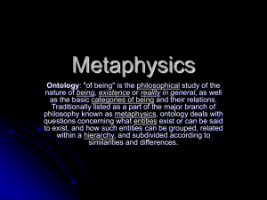 Intro to Metaphysics