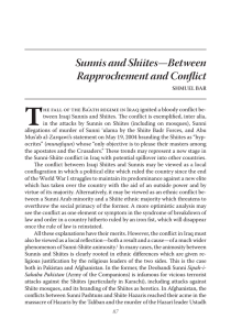 Sunnis and Shiites—Between Rapprochement and