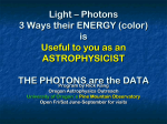 Light – Photons 3 Ways their ENERGY (color) is Useful to you as an