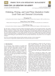 Ordering, pricing, and lead-time quotation under lead