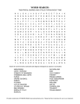 Theatrical Genres and Styles Throughout Time Word Search