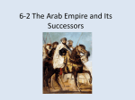 6-2 The Arab Empire and Its Successors