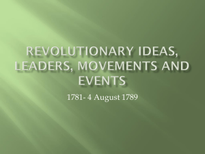 Revolutionary ideas, leaders, movements and events