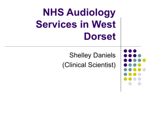 NHS Audiology Services in West Dorset