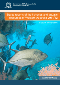 Status reports of the fisheries and aquatic resources of Western