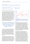 Bluffing your way in Astronomy: Taurus