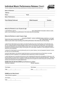 Individual Music Release Form
