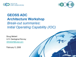 GEOSS ADC Architecture Workshop Initial Operating Capability (IOC)