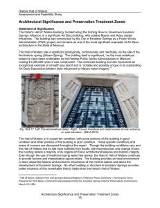 Architectural Significance and Preservation Treatment Zones