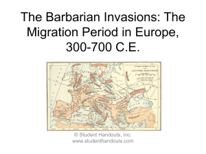 The Barbarian Invasions: The Migration Period
