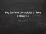 Key Economic Principles of Free Enterprise
