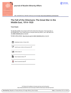 The Fall of the Ottomans: The Great War in the Middle East, 1914