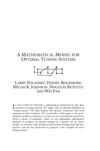 A Mathematical Model for Optimal Tuning Systems