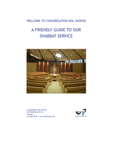 A FRIeNdly GuIde to ouR SHAbbAt SeRvIce
