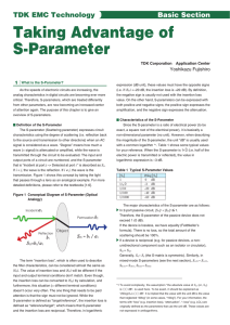 Taking Advantage of S-Parameter