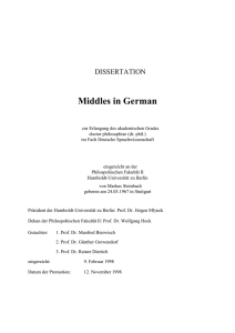 Middles in German - EDOC HU - Humboldt