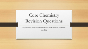 Core Chemistry Revision Questions