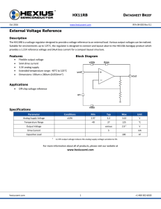 HX11RB External Voltage Reference